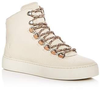 Frye Women's Lena Leather Platform Hiker Sneakers