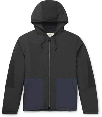 Folk Padded Two-Tone Shell Hooded Jacket