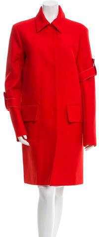 CelineCéline Collared Long Sleeve Coat w/ Tags