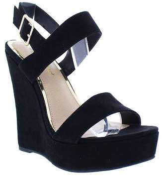 Liliana Derby Ankle Strap Wedge Sandal