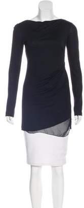 Rozae Nichols Draped Silk-Accented Tunic
