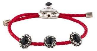 Alexander McQueen Crystal & Leather Heart Nappa Bracelet
