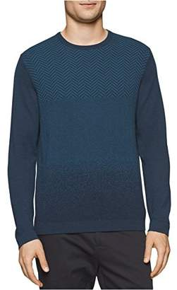 Calvin Klein Men's Merino Herringbone V-Neck Sweater