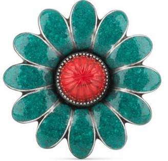 Gucci Enameled flower ring