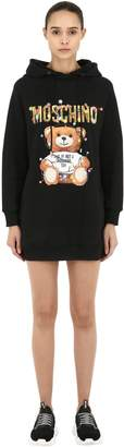 Moschino Printed Cotton Jersey Sweatshirt Dress