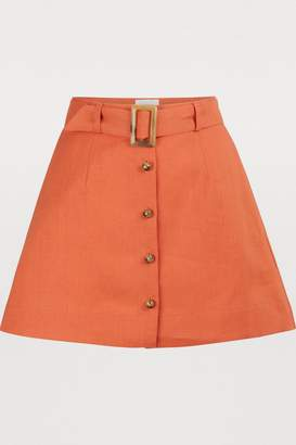 Lisa Marie Fernandez Belted mini skirt