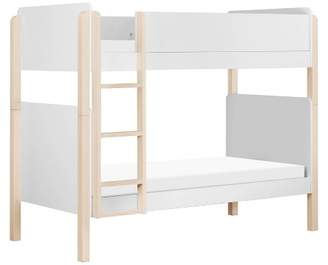 Babyletto Tiptoe Bunk Bed White/Washed Natural