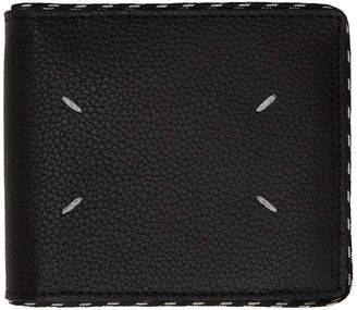 Maison Margiela (メゾン マルジェラ) - Maison Margiela ブラック コード バイフォールド ウォレット