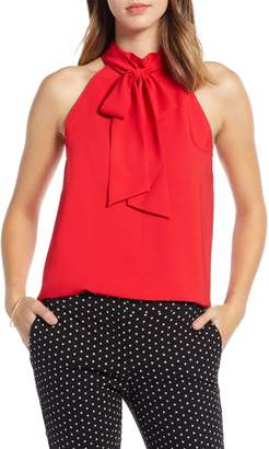1901 Halter Tie Neck Top