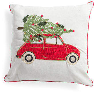 20x20 Car With Tree Pillow