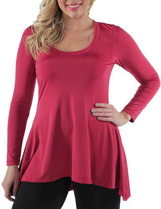 24/7 Comfort Apparel High-Low Tunic Top-Plus
