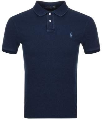 Ralph Lauren Slim Fit Polo T Shirt Blue
