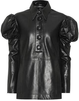 Ellery Breuer leather blouse