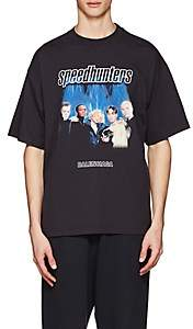 "Balenciaga Men's ""Speedhunter"" Cotton T-Shirt - Black"