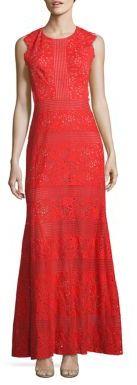BCBGMAXAZRIA Cutout Lace Gown $398 thestylecure.com
