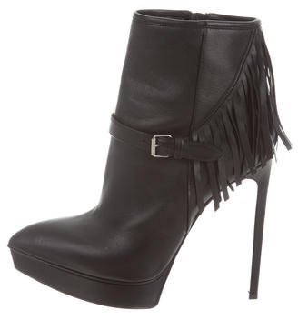 Saint Laurent Saint Laurent Fringe Ankle Boots