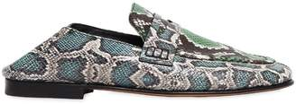 Isabel Marant 10mm Feezy Embossed Python Loafers