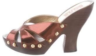 KORS Metallic Slide Sandals