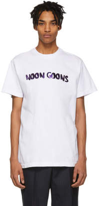 Noon Goons White Leopard Logo T-Shirt