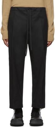Jil Sanderand Black Cropped Wide-Leg Casual Trousers