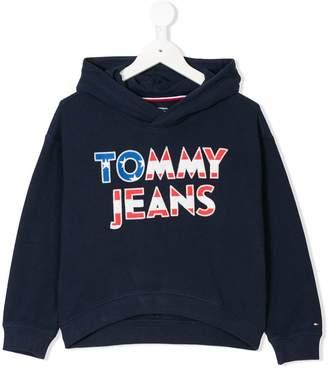 Tommy Hilfiger Junior logo appliqué hoodie