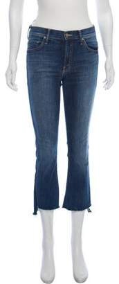 Mother Insider Crop Step Fray Mid-Rise Jeans