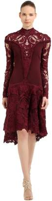 Jonathan Simkhai Flared Crepe & Lace Dress