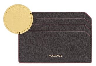 Roksanda Dot Bi Colour Leather Cardholder - Womens - Black