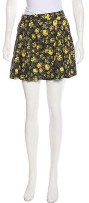 Band Of Outsiders Printed Mini Skirt