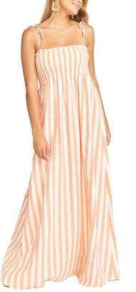 Show Me Your Mumu Maggie Stripe Linen Blend Maxi Dress