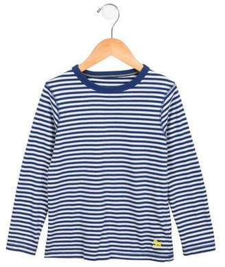 Boden Mini Boys' Striped Long Sleeve Shirt