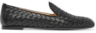 Bottega Veneta Intrecciato Leather Loafers - Black