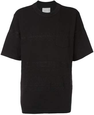 Sacai embroidered front T-shirt