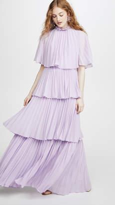 Glamorous Lilac Pleated Dress
