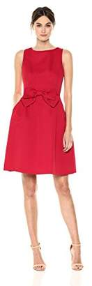 Tahari by Arthur S. Levine Women's Fit and Flare Dress with Bow On Waist in Front