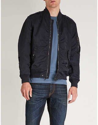 Ralph Lauren Purple Label Chiswell Gunners satin bomber jacket