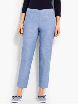 Talbots The Perfect Crop-Chambray