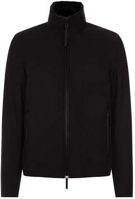 Emporio Armani Suede and Shearling Jacket