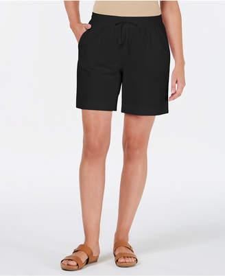 Karen Scott Knit Drawstring Shorts