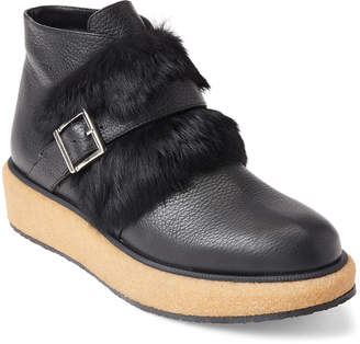 Paloma Barceló Black Real Fur Ankle Booties