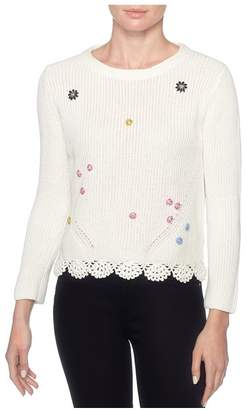 Magaschoni Crochet Beaded Pullover