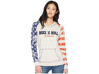 Rock and Roll Cowgirl Long Sleeve Pullover Hoodie 48H5592 Women's Sweatshirt