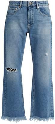 Raey Max asymmetric-hem wide-leg jeans