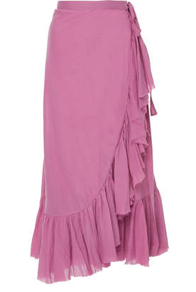 Loup Charmant Ruffle Cotton Wrap Skirt