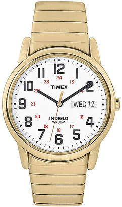 Timex Easy Reader Mens Gold-Tone Stainless Steel Expansion Strap Watch T2N0929J