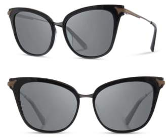 Shwood Arlene 56mm Polarized Cat Eye Sunglasses