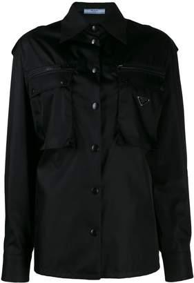 Prada front pocket military jacket