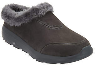 Skechers GOwalk Suede Faux Fur Clogs -Brilliant