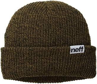 4d0dbab495786 Neff Mens Fold Heather Solid Winter Hat - Brown