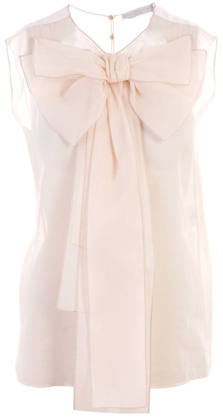 STELLA MCCARTNEY - Top with oversized bow